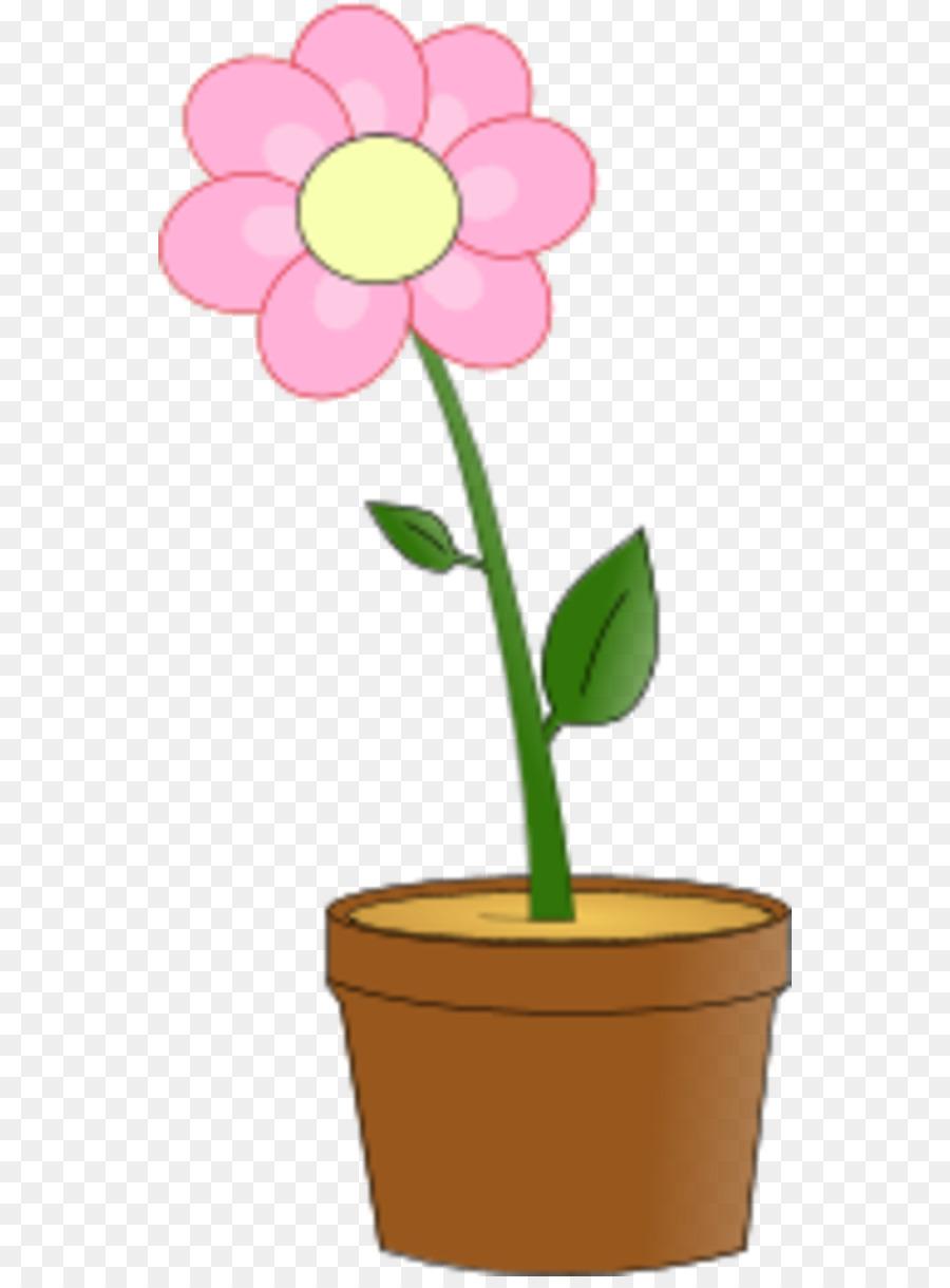 900x1220 Flowerpot Pink Flowers Clip Art