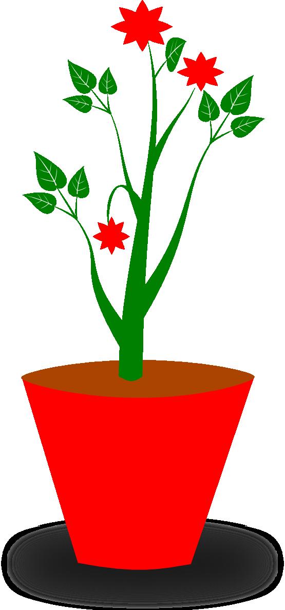 555x1188 Clip Art Gsagri 4 Flower Pot
