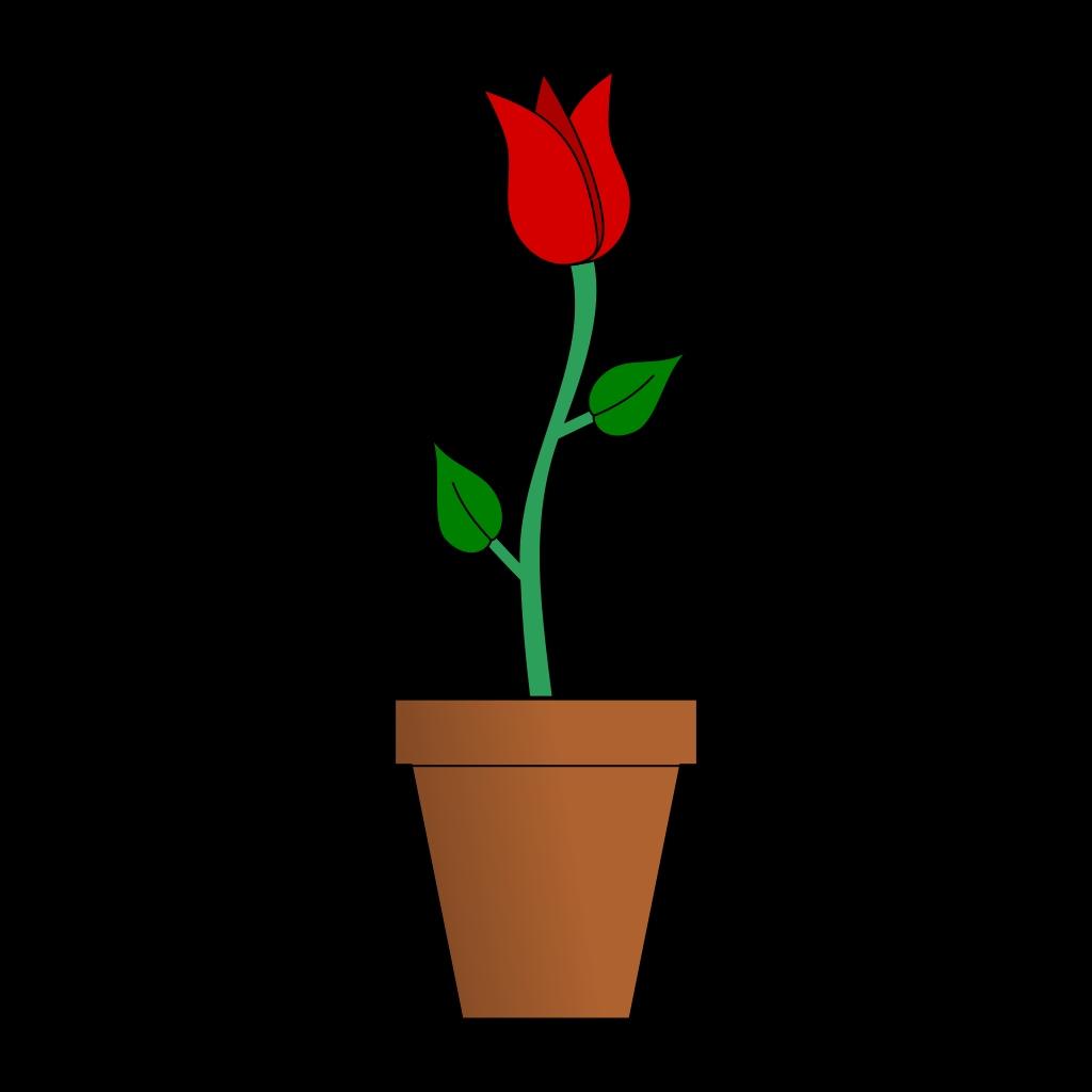 1024x1024 Clipart Black And White Flowers In A Vase Unique Flower Pot Clip