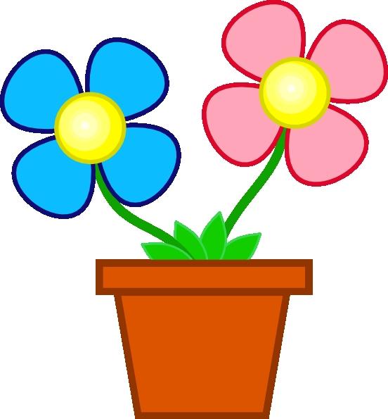 552x595 Clipart Flower And Pot Browse Flower Pot Clip Art Clipart Panda