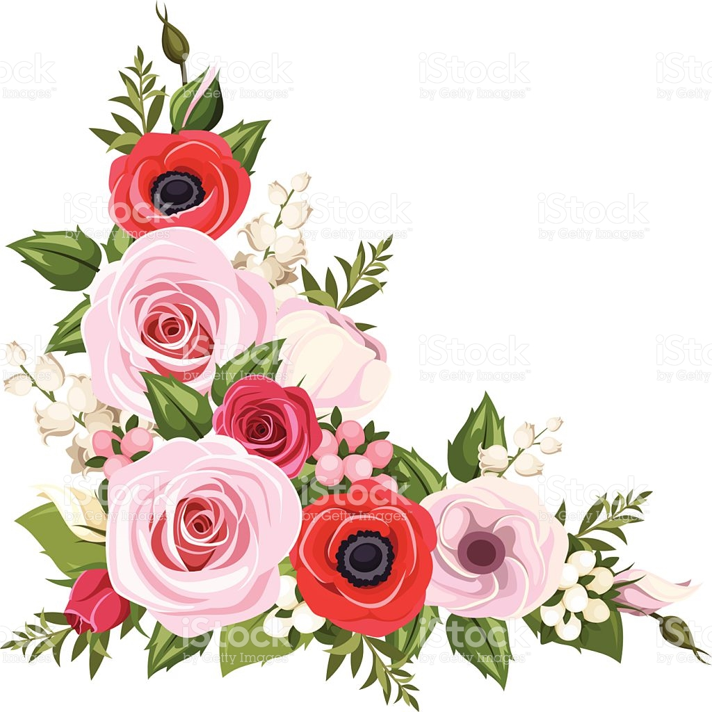 1024x1024 Pink Rose Clipart Flower Corner Free Collection Download