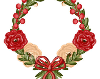 340x270 Clip Art Christmas Roses Clipart Clipground