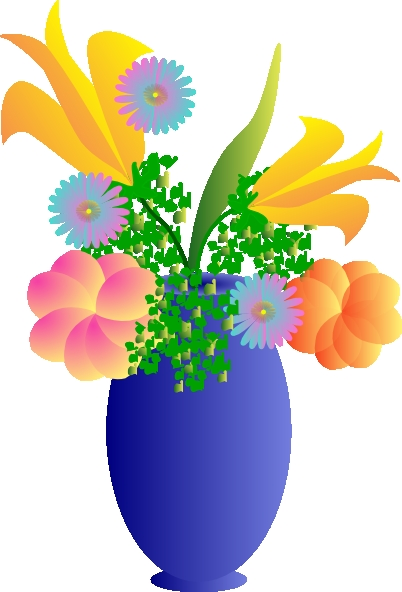 402x592 Clipart Flower Vase A Vase Of Flowers Clip Art At Clker Vector