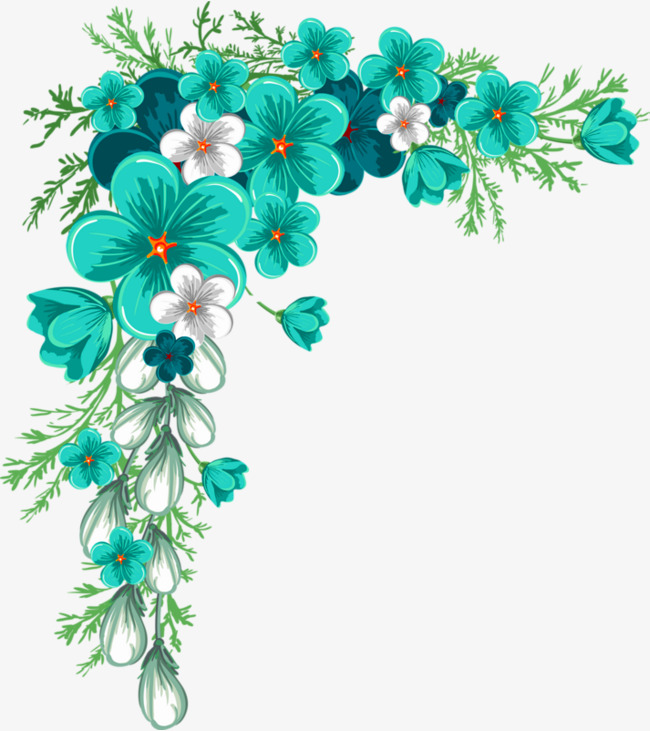 650x731 Green And Fresh Flower Vine Decoration Pattern, Green, Fresh