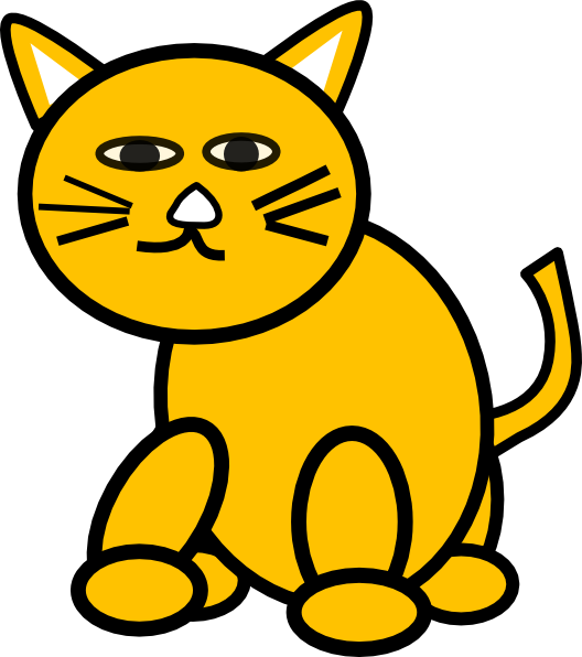 528x596 Cat Clipart Yellow