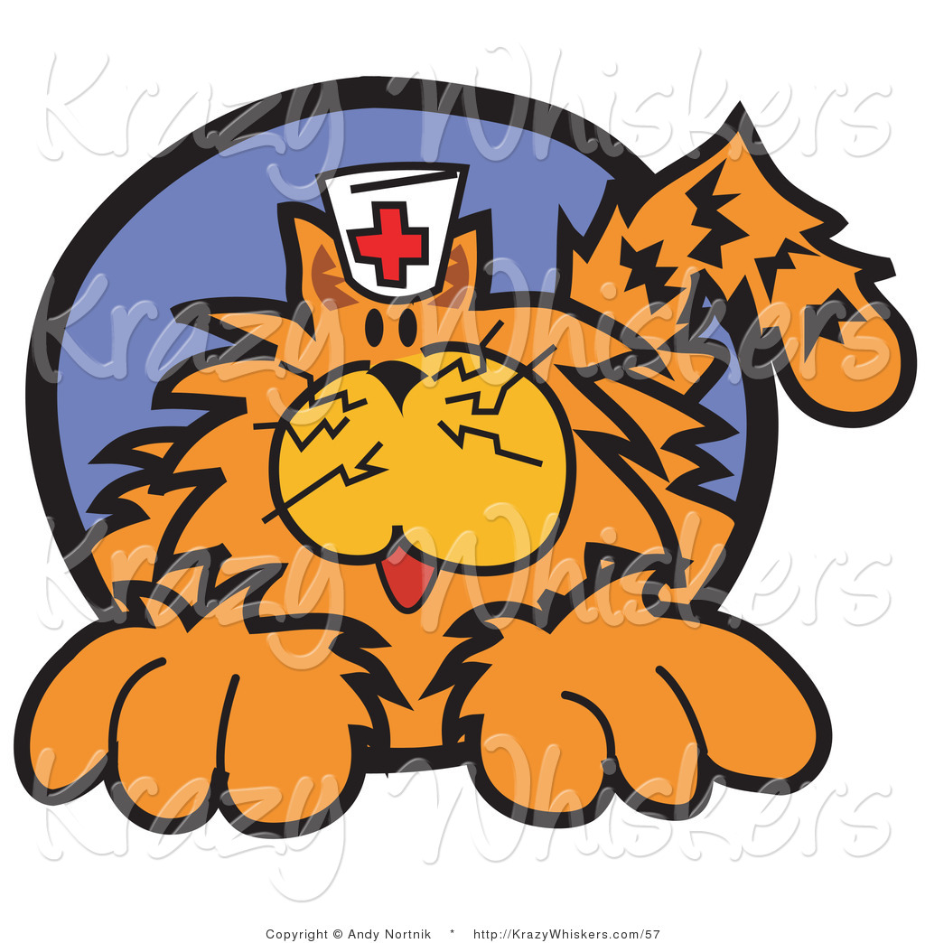 1024x1044 Critter Clipart Of Long Haired Fluffy Orange Cat Wearing