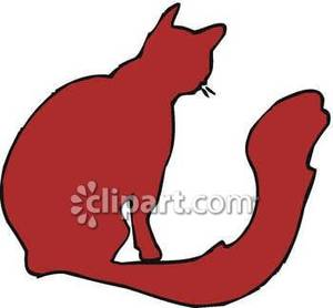300x278 Silhouette Of A Cat With A Fluffy Tail