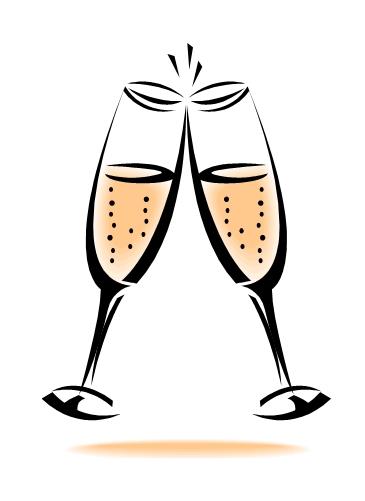 365x501 Champagne Flute Clipart