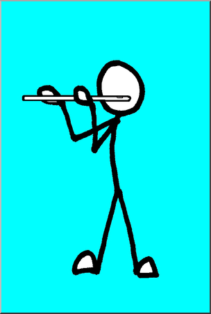304x451 Clip Art Stick Guy Flute Player Color I Abcteach