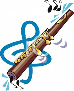 243x300 A Flute And Music Clipart Image
