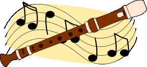 300x136 Flute Music Clip Art Free Vector 4vector