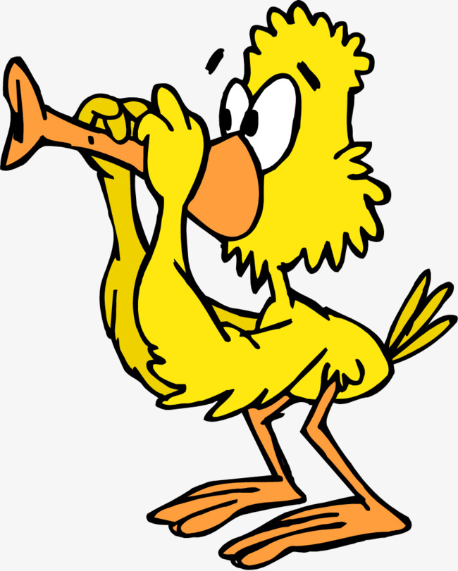 650x811 Little Yellow Duck With A Flute, Yellow Duck, Flute, Illustration