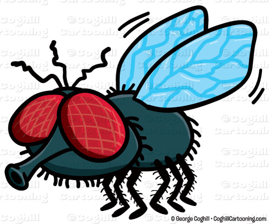 540x449 Clip Art Cartoon Fly Clipart