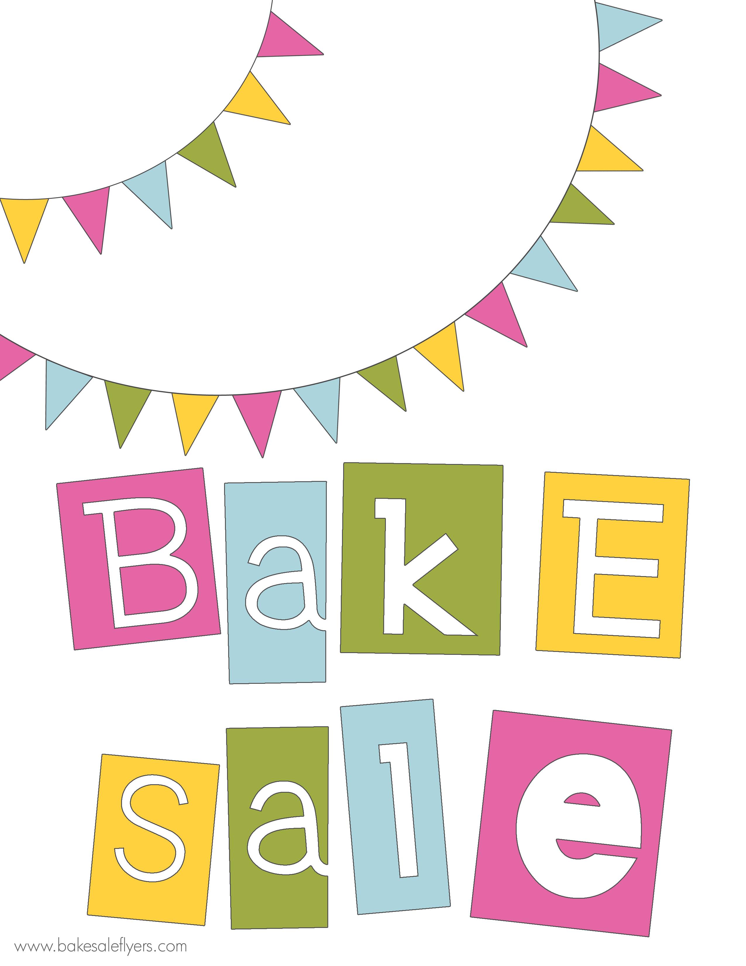 2550x3300 Free Bake Sale Clipart