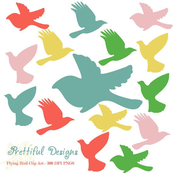 570x570 40 Off Sale Flying Bird Silhouette Clip Art By Prettifuldesigns