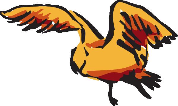 600x357 Orange And Red Flying Bird Clip Art