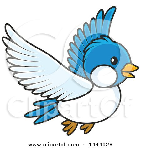 450x470 Royalty Free Vector Clip Art Illustration Of A Flying Blue Bird By