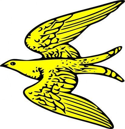 412x425 Bird Clipart Description Outline Yellow Bird Fly Animal Martlet