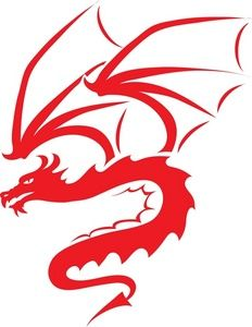 232x300 Free Dragon Clip Art Image Red Silhouette Of A Flying Dragon