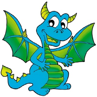 Image result for blue dragon clipart