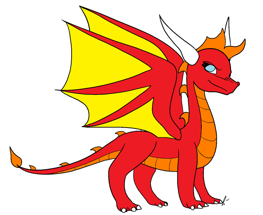 900x736 Red Dragon Clipart
