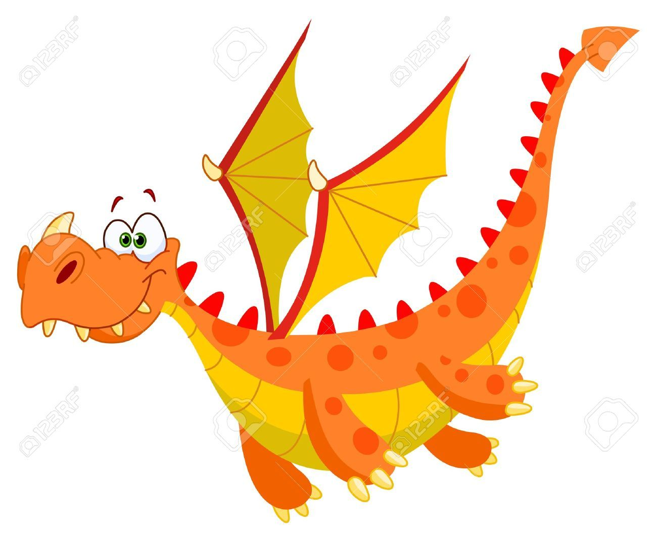 1300x1074 Flying Dragon Clipart