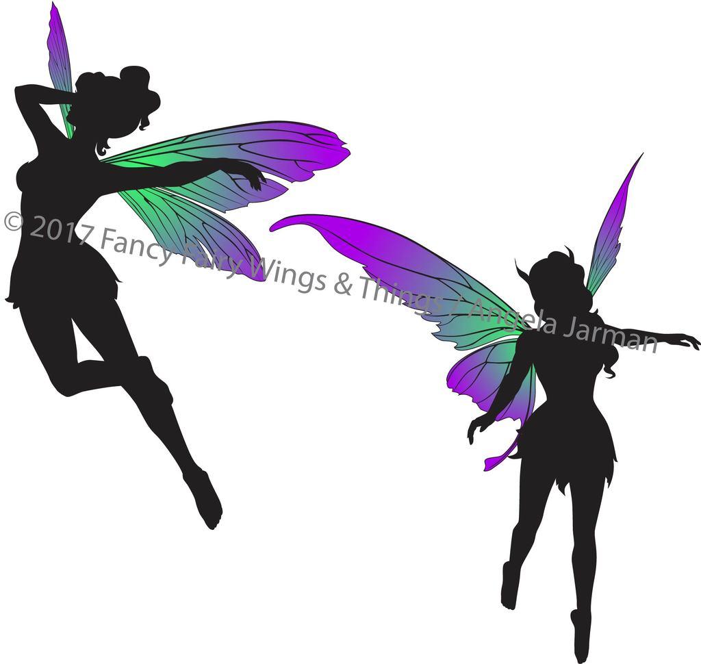 1024x970 Flying Fairies Silhouettes Clip Art Vector Art