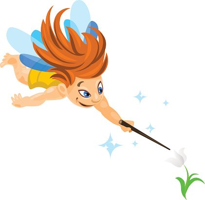 421x410 Small Flying Fairy Premium Clipart