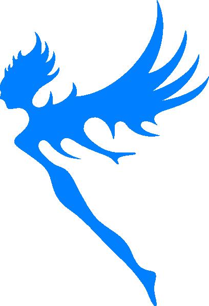 408x598 Blue Fairy Clip Art