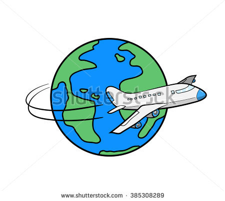 450x403 Clipart Of Plane Flying Around Earth Amp Clip Art Of Plane Flying