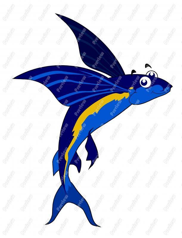 611x800 Flying Fish Flying Fish Clip Art