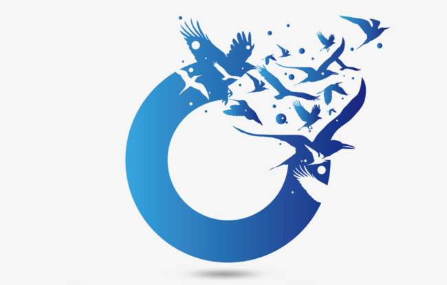 650x415 Flying Geese, Blue, Round, Creative Png Image And Clipart For Free