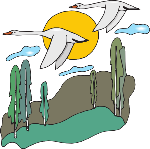 600x595 Flying Geese Clip Art