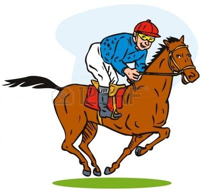 400x381 Race Horse Clipart