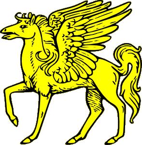 294x300 Winged Horse Clip Art