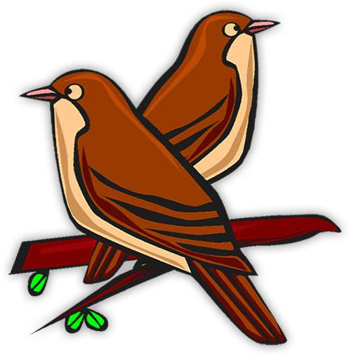 500x505 Clip Art Birds In Flight Clipart
