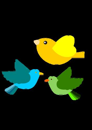 353x500 Clip Art Of Three Different Flying Birds Public Domain Vectors