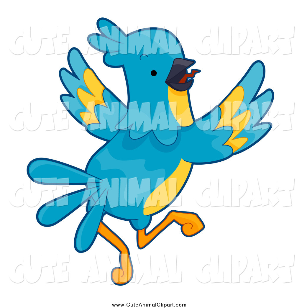 1024x1044 Vector Cartoon Clip Art Of A Blue And Yellow Parrot Flying By Bnp