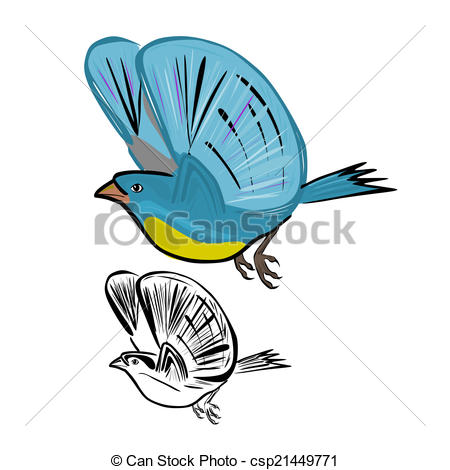 450x470 Vector Illustration Flying Birds On A White Background. Vectors