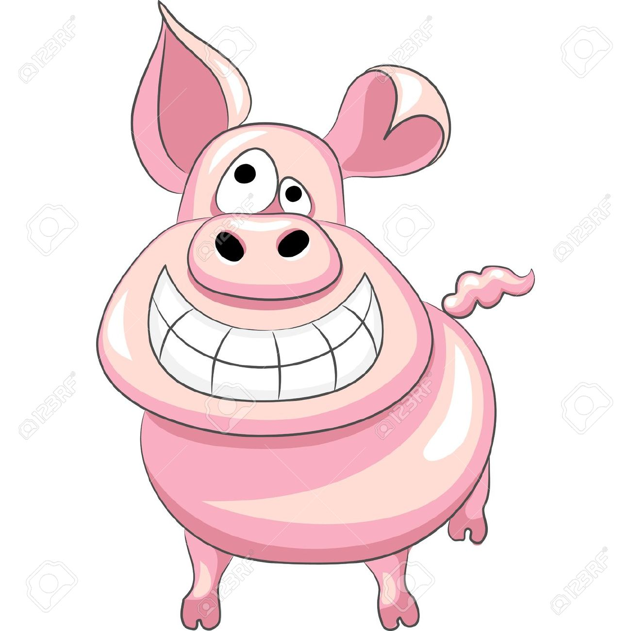 1300x1300 Pig Clipart Happy Pig