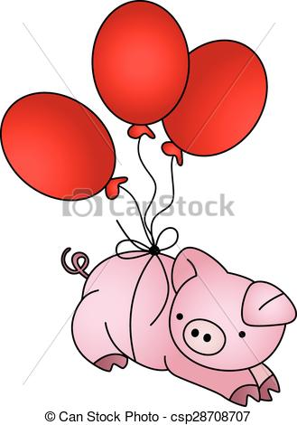 329x470 Pig Flying Vector Clipart Eps Images. 412 Pig Flying Clip Art
