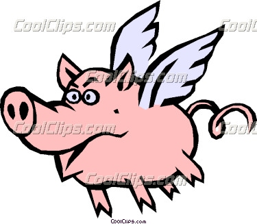 375x327 Pigs With Wings Clip Art