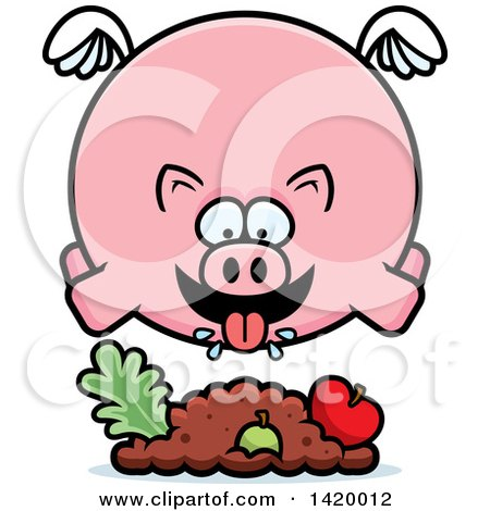 450x470 Royalty Free (Rf) Chubby Pig Clipart, Illustrations, Vector