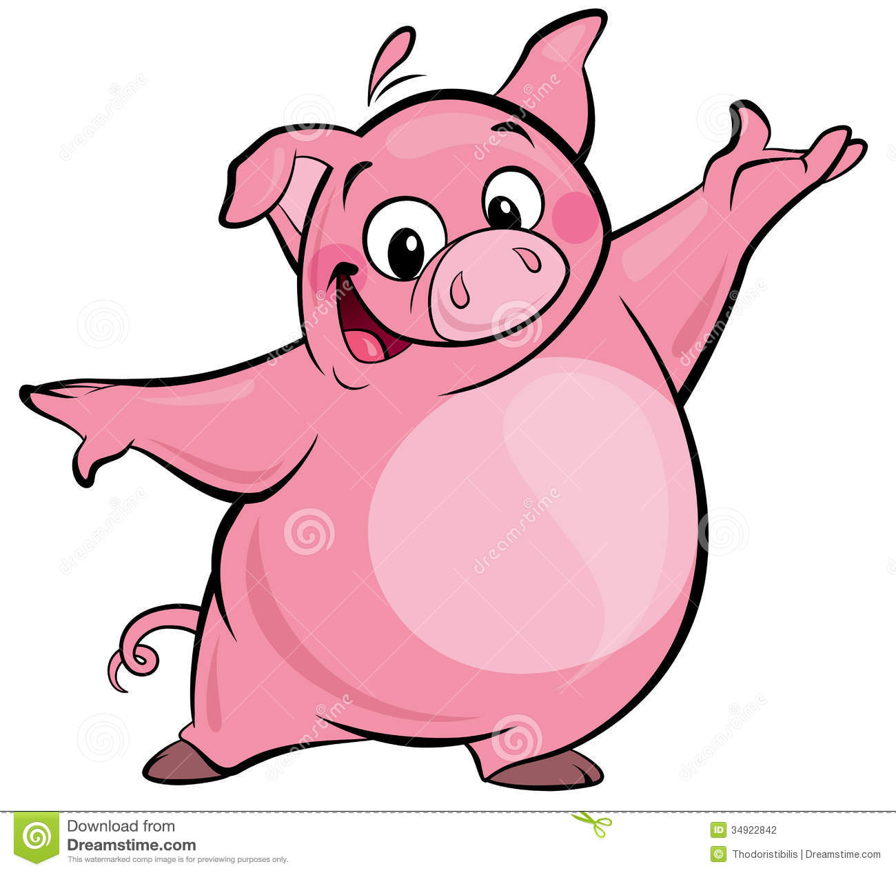 1300x1266 Collection Of Smiling Pig Clipart High Quality, Free