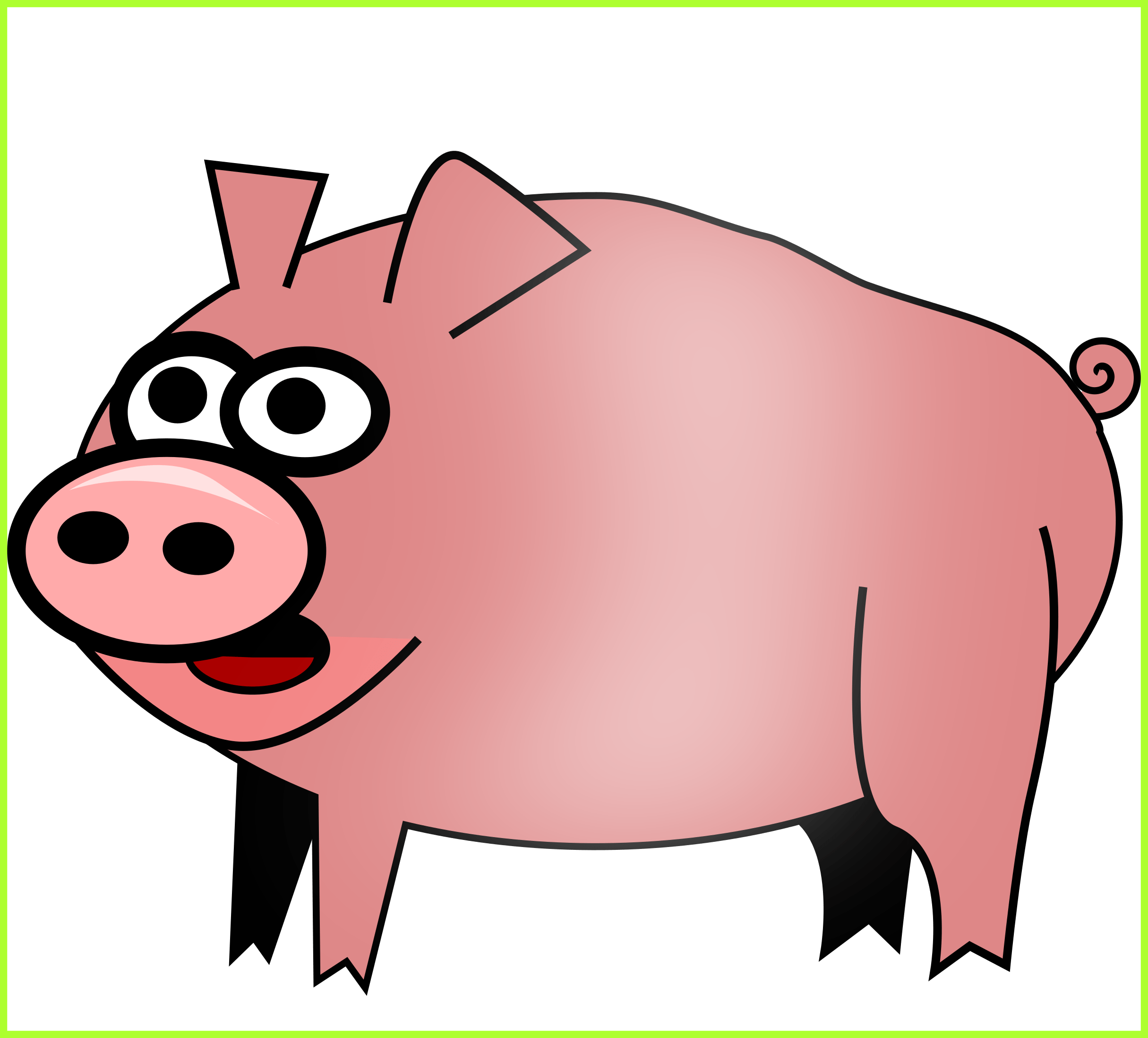 2430x2196 Appealing Clip Art Of A Cute Pig Thinking By Graphics Rf Pic Piggy