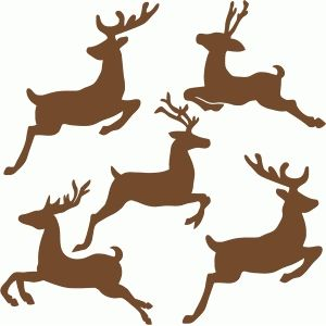 300x300 Flying Reindeer Set Silhouette Design Silhouettes And Stenciling