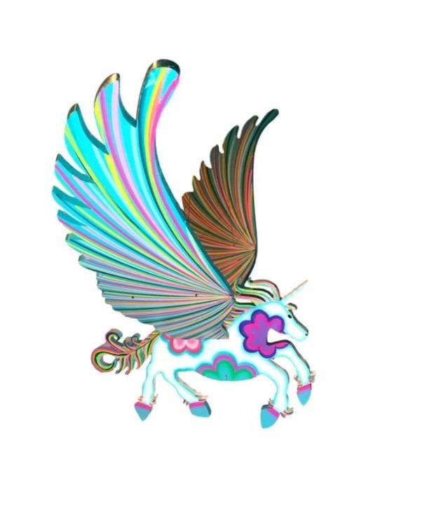 609x742 Unicorn Flying Mobile Large
