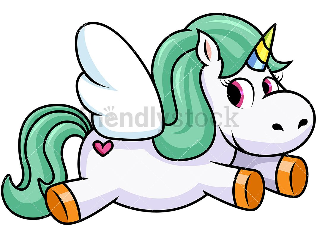 1067x800 Winged Unicorn With Heart Tattoo Vector Cartoon Clipart Pegasus