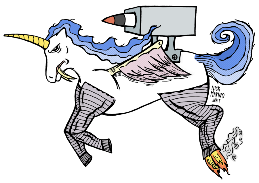 900x638 Flying Sabertooth Unicorn By Nickmarino