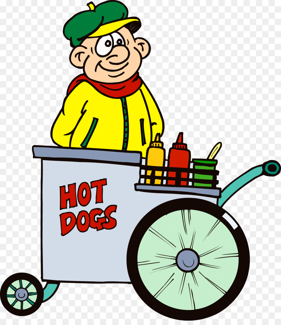 900x1040 Hot Dog Stand Clipart